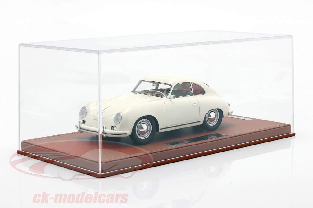 Porsche 356A year 1955 white with showcase 1:18 BBR