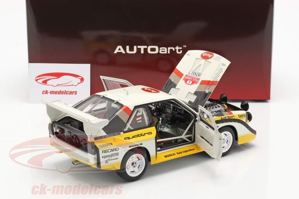 Audi Sport Quattro S1 #5 Vincitore Rallye SanRemo 1985 Röhrl, Geistdörfer 1:18 AUTOart