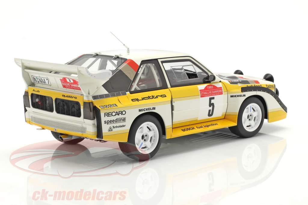 Audi Sport Quattro S1 #5 Winner Rallye SanRemo 1985 Röhrl, Geistdörfer 1:18 AUTOart