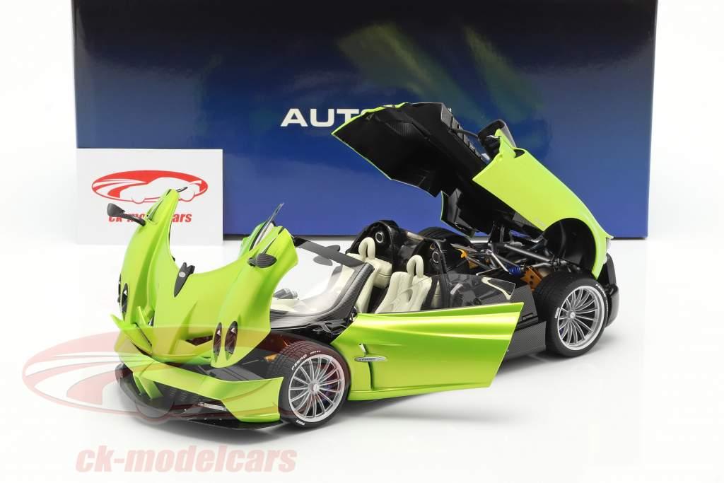 Pagani Huayra Roadster Année de construction 2017 lumière vert métallique 1:18 AUTOart