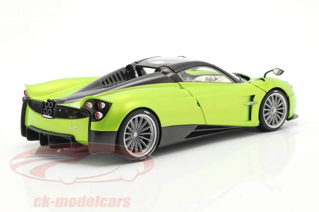 Pagani Huayra Roadster Bouwjaar 2017 licht groen metalen 1:18 AUTOart