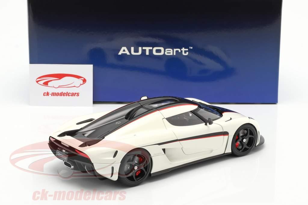 Koenigsegg Regera Anno di costruzione 2016 bianca / carbonio / rosso 1:18 AUTOart