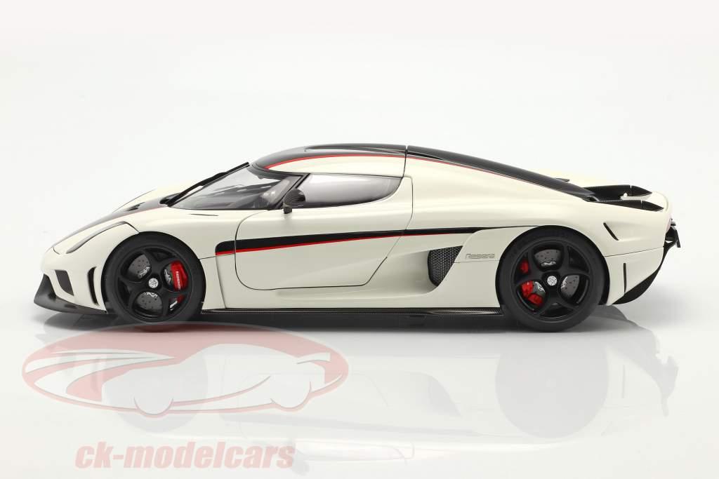 Koenigsegg Regera Ano de construção 2016 Branco / carbono / vermelho 1:18 AUTOart