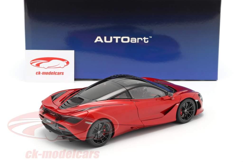 McLaren 720S Bouwjaar 2017 rood metalen 1:18 AUTOart