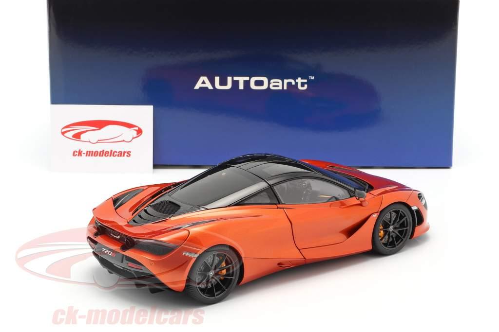 McLaren 720S Año de construcción 2017 naranja metálico 1:18 AUTOart