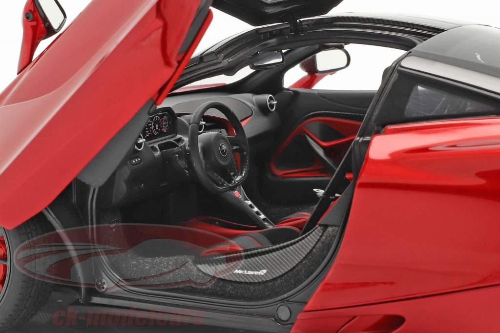 McLaren 720S Ano de construção 2017 vermelho metálico 1:18 AUTOart