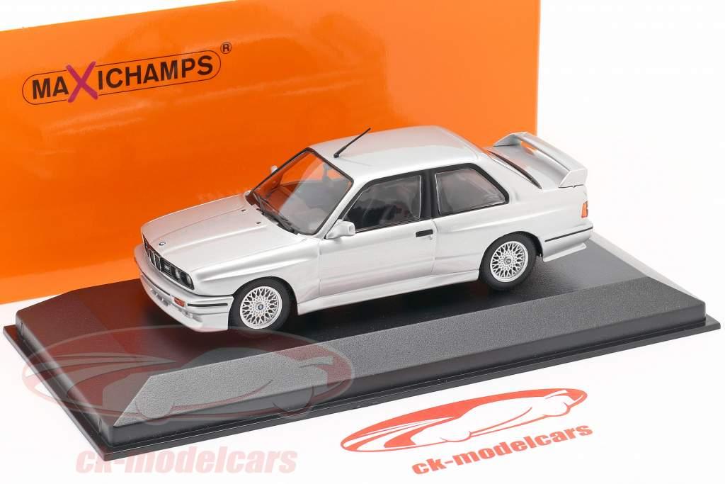 BMW M3 (E30) year 1987 silver metallic 1:43 Minichamps