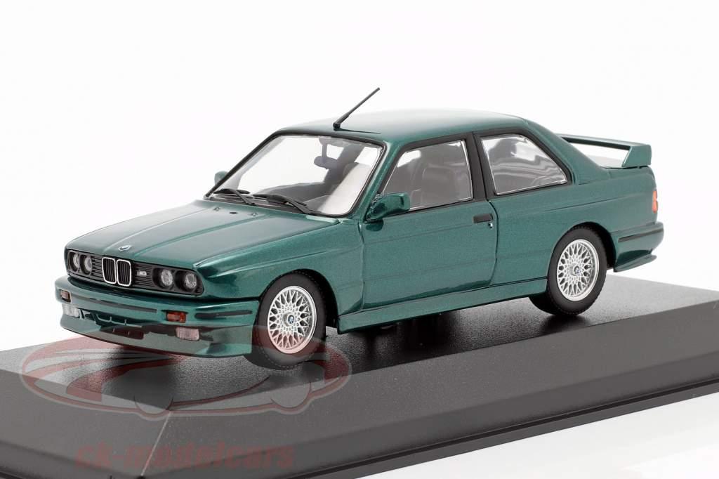 BMW M3 (E30) year 1987 dark green metallic 1:43 Minichamps