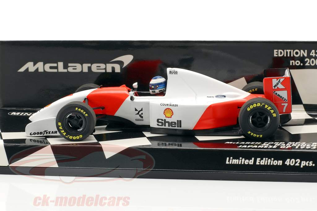 Mika Häkkinen McLaren MP4/8 #7 3. Japan GP formel 1 1993 1:43 Minichamps