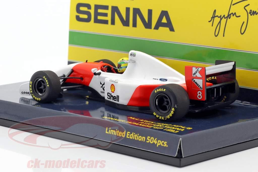 Ayrton Senna McLaren MP4/8 #8 ganador Japón GP fórmula 1 1993 1:43 Minichamps
