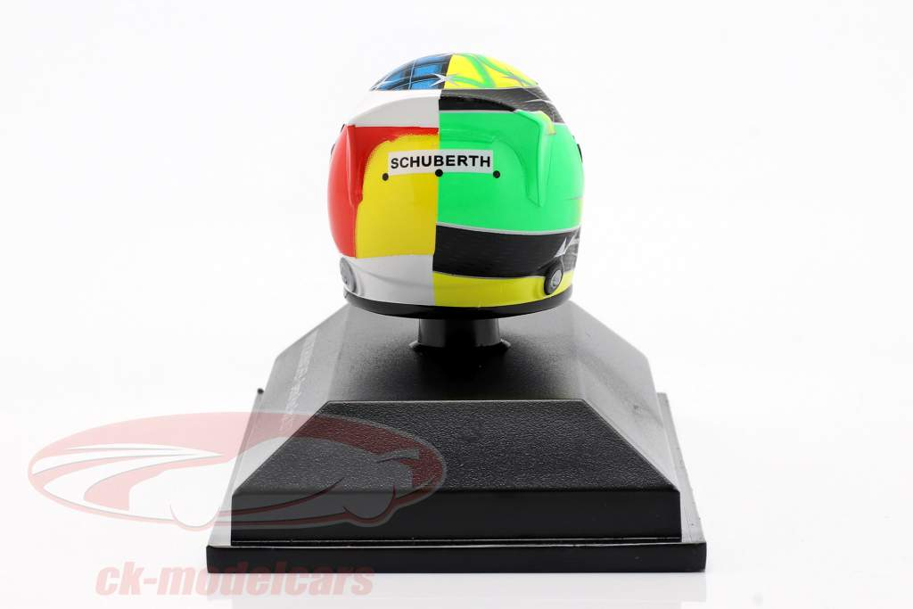 Mick Schumacher Benetton B194 #5 Demo Run GP Spa formel 1 2017 hjelm 1:8 Minichamps