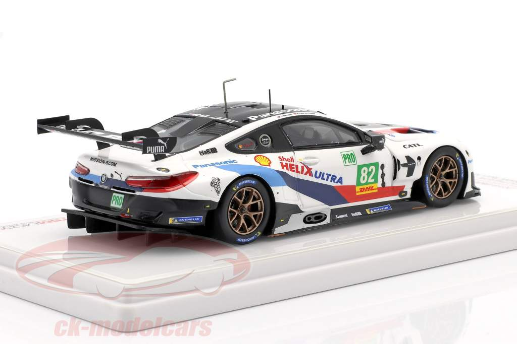 BMW M8 GTE #82 2. plads LMGTE Pro 6h Fuji WEC 2018 Blomqvist, da Costa 1:43 TrueScale