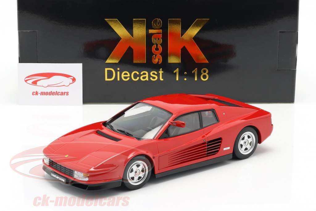 Ferrari Testarossa Monospecchio Bouwjaar 1984 rood 1:18 KK-Scale