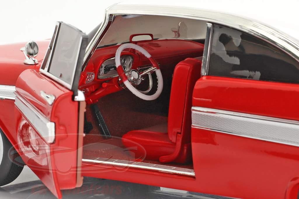 Plymouth Fury Año de construcción 1958 Película Christine (1983) rojo / Blanco 1:18 AutoWorld
