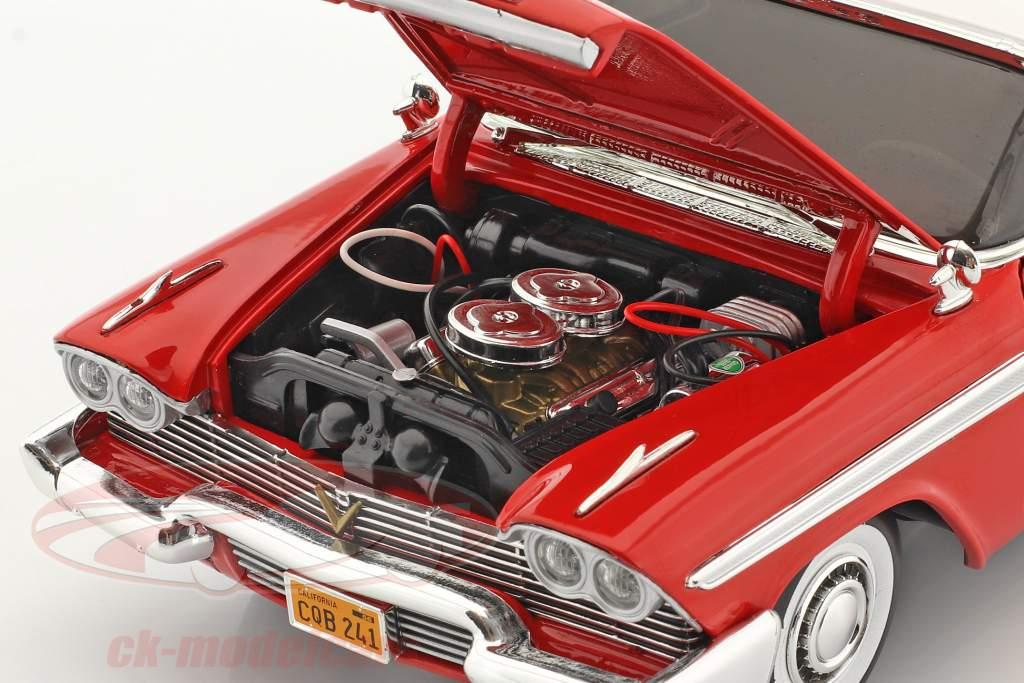 Plymouth Fury Anno di costruzione 1958 Film Christine (1983) rosso / bianca 1:18 AutoWorld