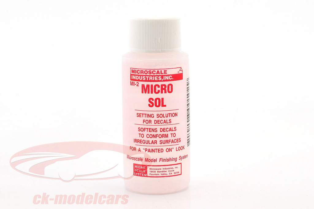 Liquid Setting Solution for labels / Decals 30ml Microscale