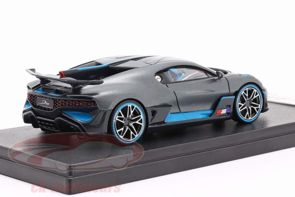 Bugatti Divo The Quail Configuration 2018 dark gray / blue 1:43 LookSmart