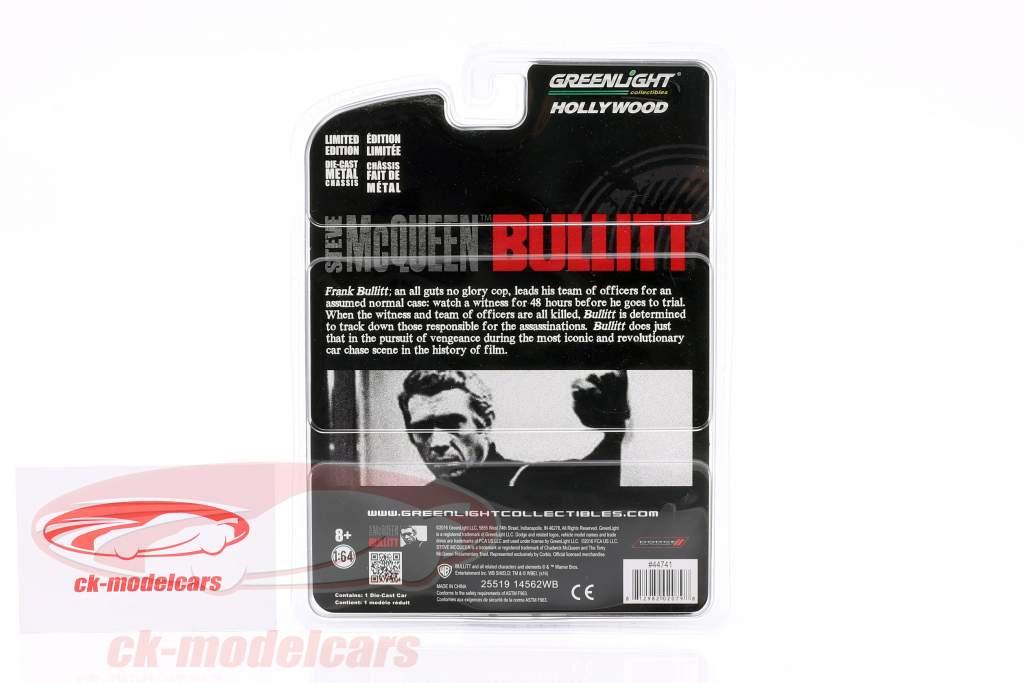 Dodge Charger Steve McQueen Film Bullitt (1968) noir 1:64 Greenlight