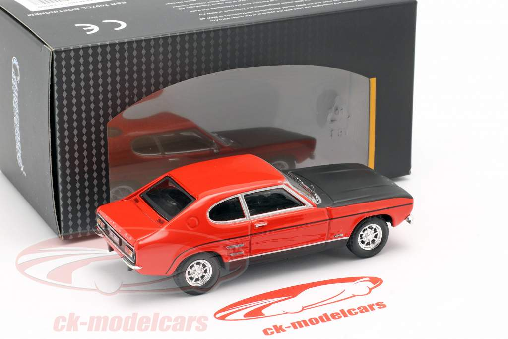 Ford Capri rød / sort 1:43 Cararama