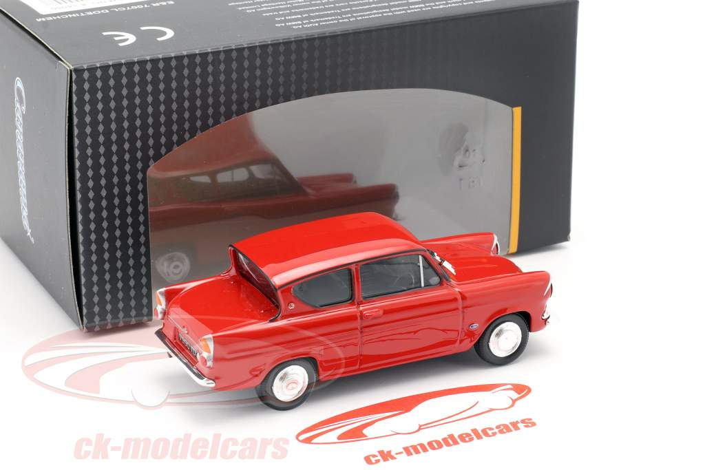 Ford Anglia MKI vermelho 1:43 Cararama