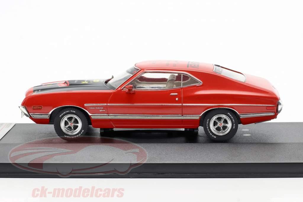 Ford Gran Torino Année de construction 1972 rouge Salon du jouet Nuremberg 2015 1:43 Premium X