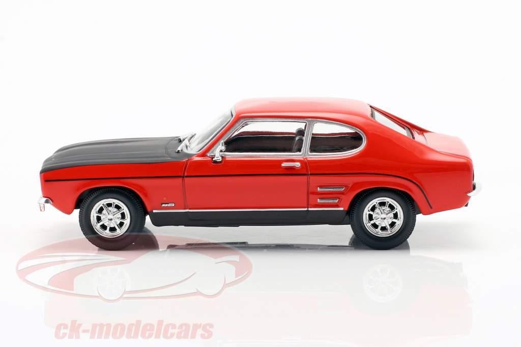 Ford Capri rojo / negro 1:43 Cararama