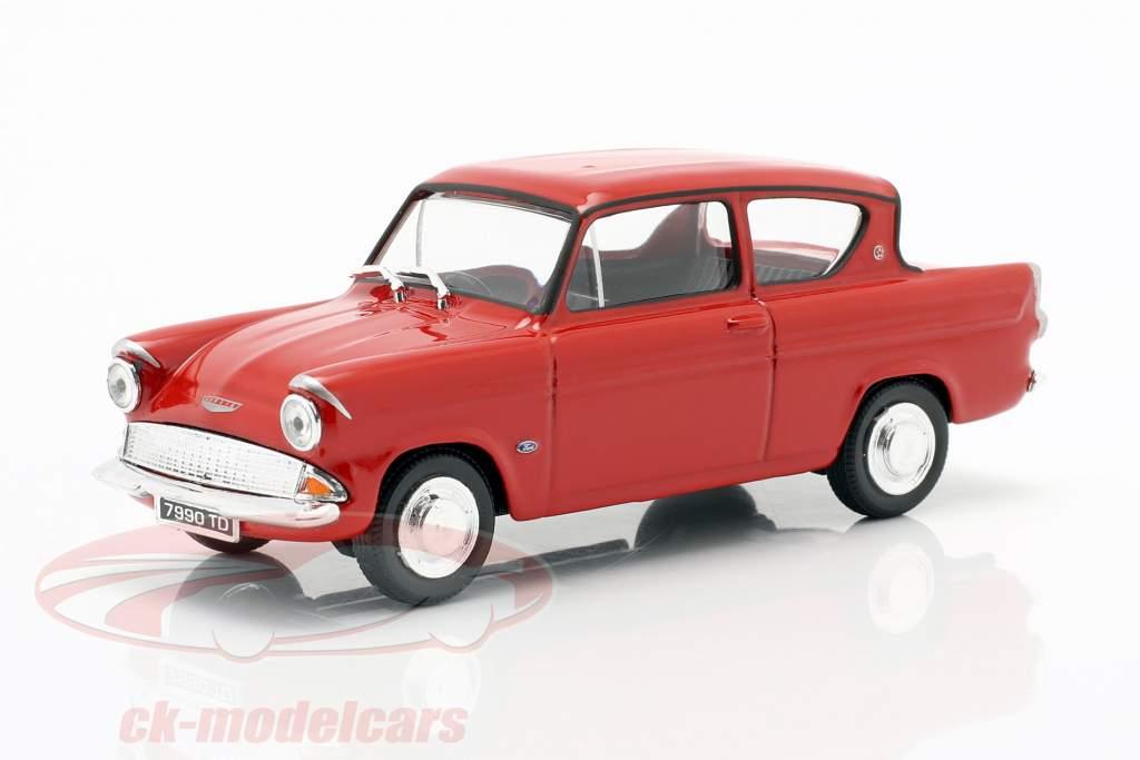 Ford Anglia MKI rood 1:43 Cararama