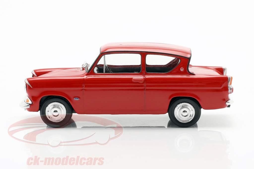 Ford Anglia MKI rojo 1:43 Cararama