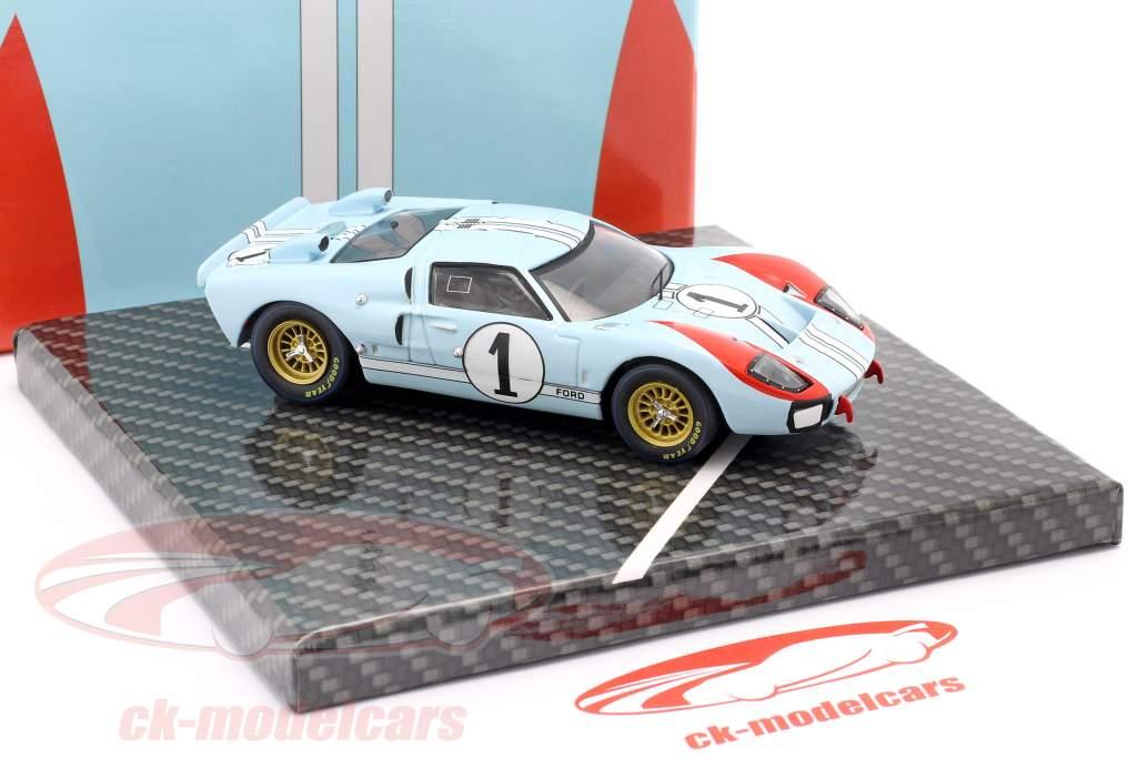 Ford GT40 MK II #1 2. plads 24h LeMans 1966 Miles, Hulme 1:43 CMR