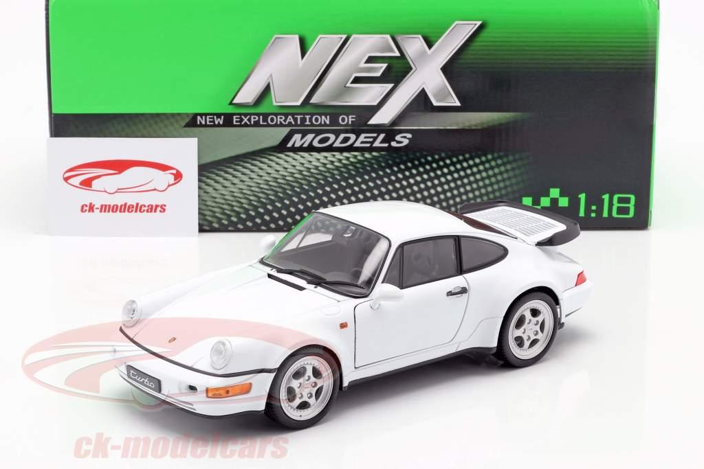 Porsche 911 (964) Turbo white 1:18 Welly