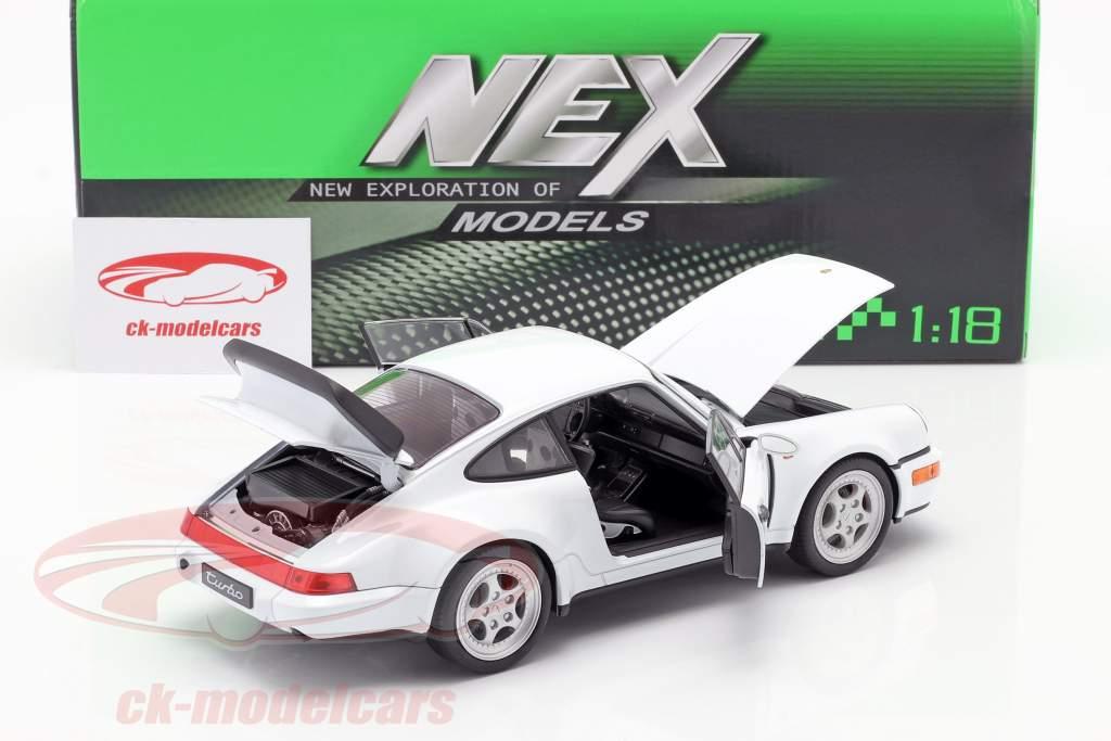 Porsche 911 (964) Turbo bianca 1:18 Welly