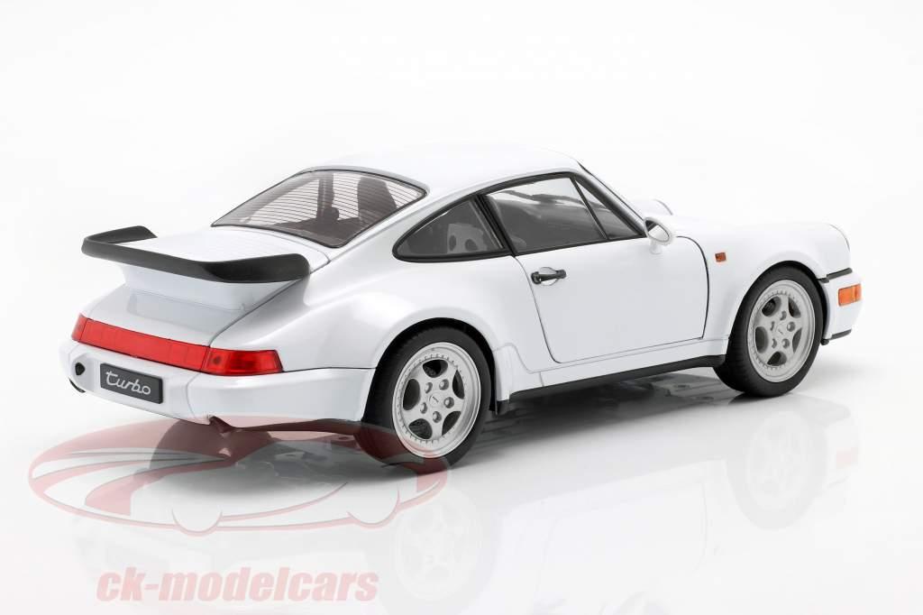 Porsche 911 (964) Turbo blanco 1:18 Welly