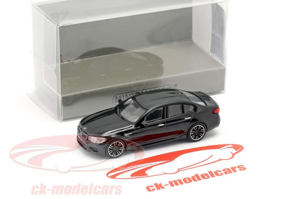 BMW M5 Baujahr 2018 schwarz metallic 1:87 Minichamps