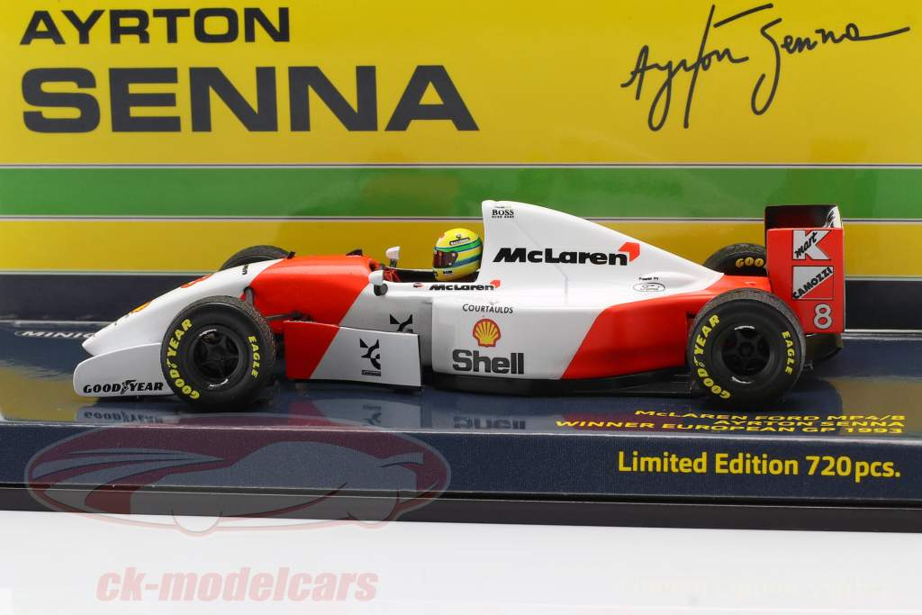 Ayrton Senna McLaren MP4/8 #8 Winner Europa GP F1 1993 1:43 Minichamps