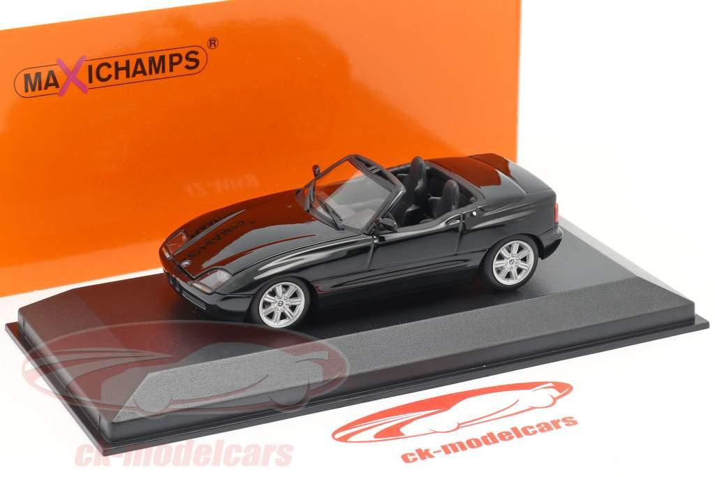 BMW Z1 (E30) Ano de construção 1991 Preto metálico 1:43 Minichamps