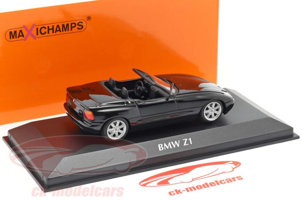 BMW Z1 (E30) Baujahr 1991 schwarz metallic 1:43 Minichamps