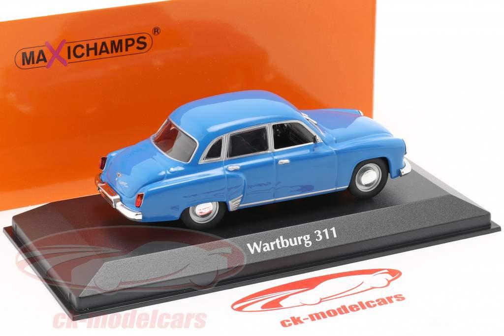Wartburg 311 ano 1959 azul 1:43 MInichamps