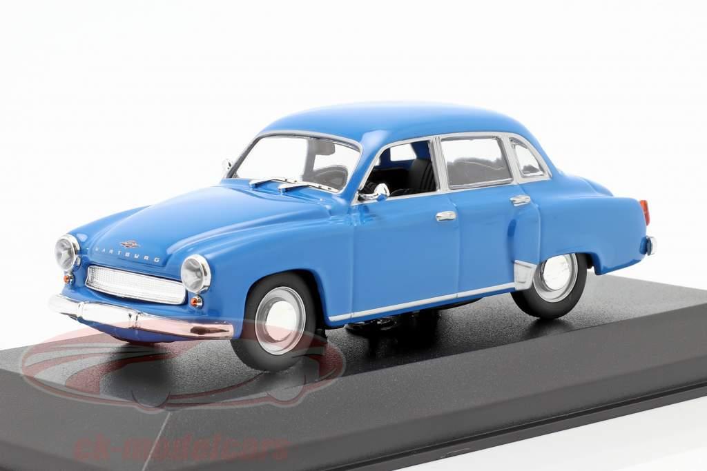 Wartburg 311 jaar 1959 blauw 1:43 MInichamps