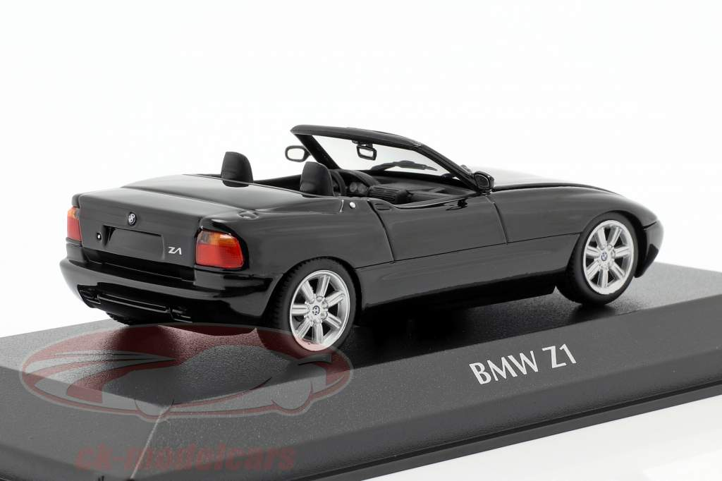BMW Z1 (E30) Anno di costruzione 1991 nero metallico 1:43 Minichamps