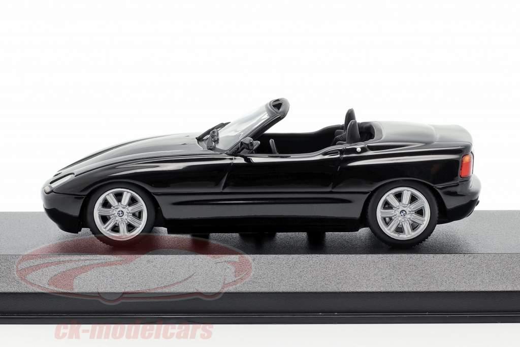 BMW Z1 (E30) Byggeår 1991 sort metallisk 1:43 Minichamps