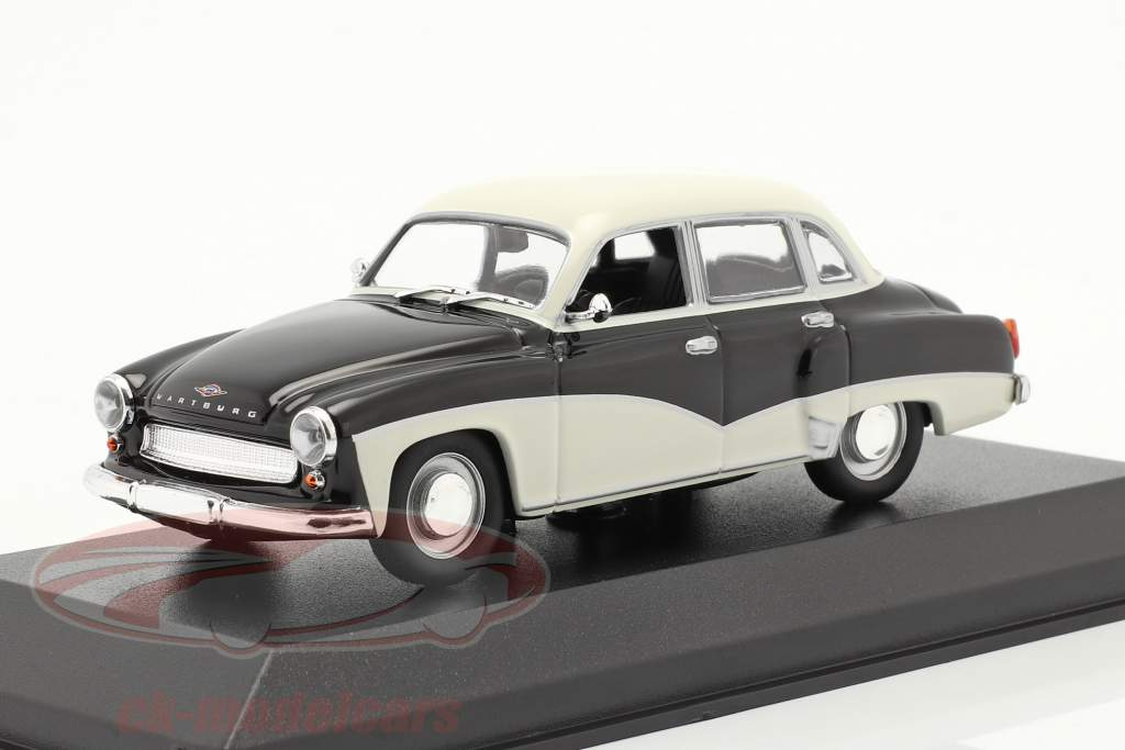 Wartburg 311 an 1959 noir / blanc 1:43 Minichamps