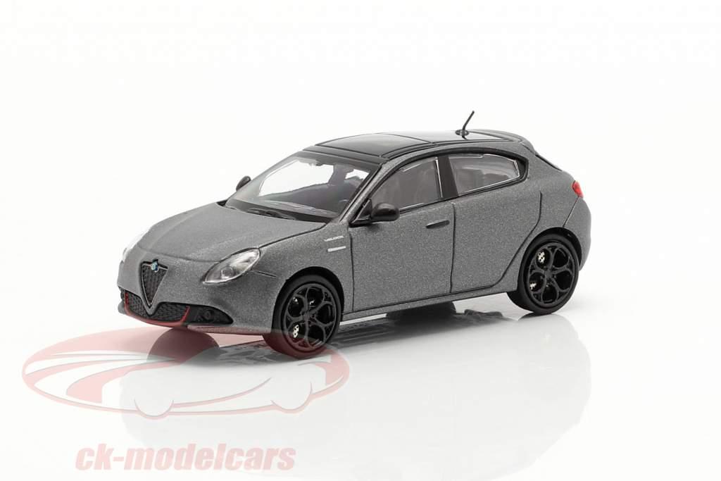 Alfa Romeo Giulietta Veloce year 2017 matt grey metallic 1:87 Minichamps