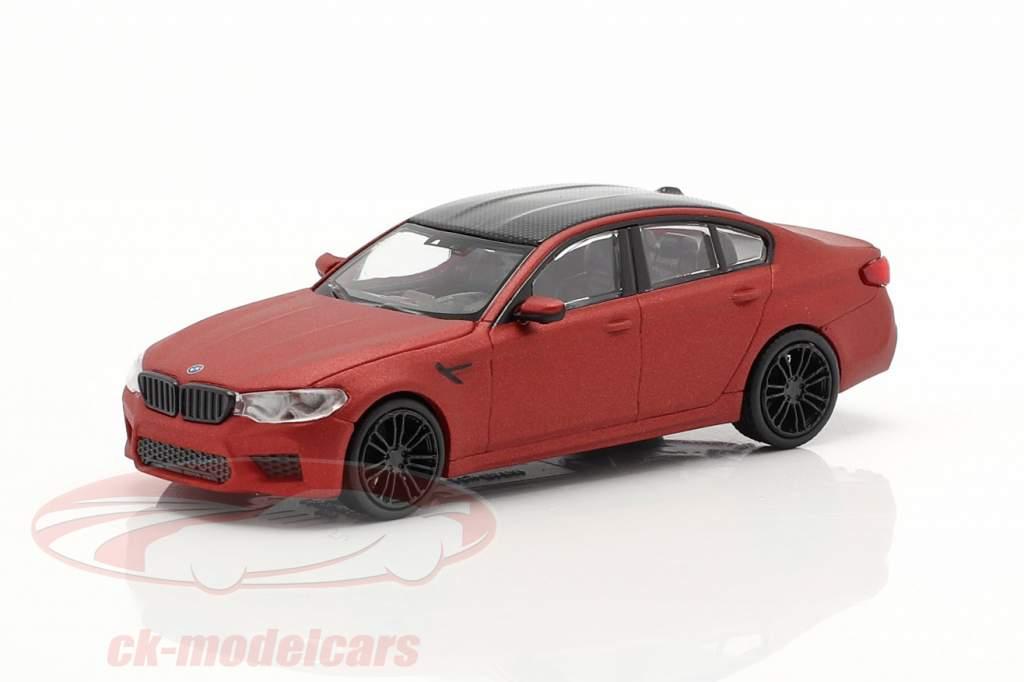 BMW M5 year 2018 dull red metallic 1:87 Minichamps