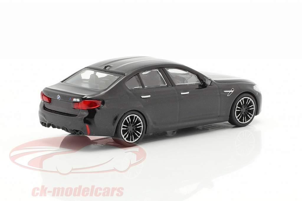 BMW M5 år 2018 sort metallisk 1:87 Minichamps