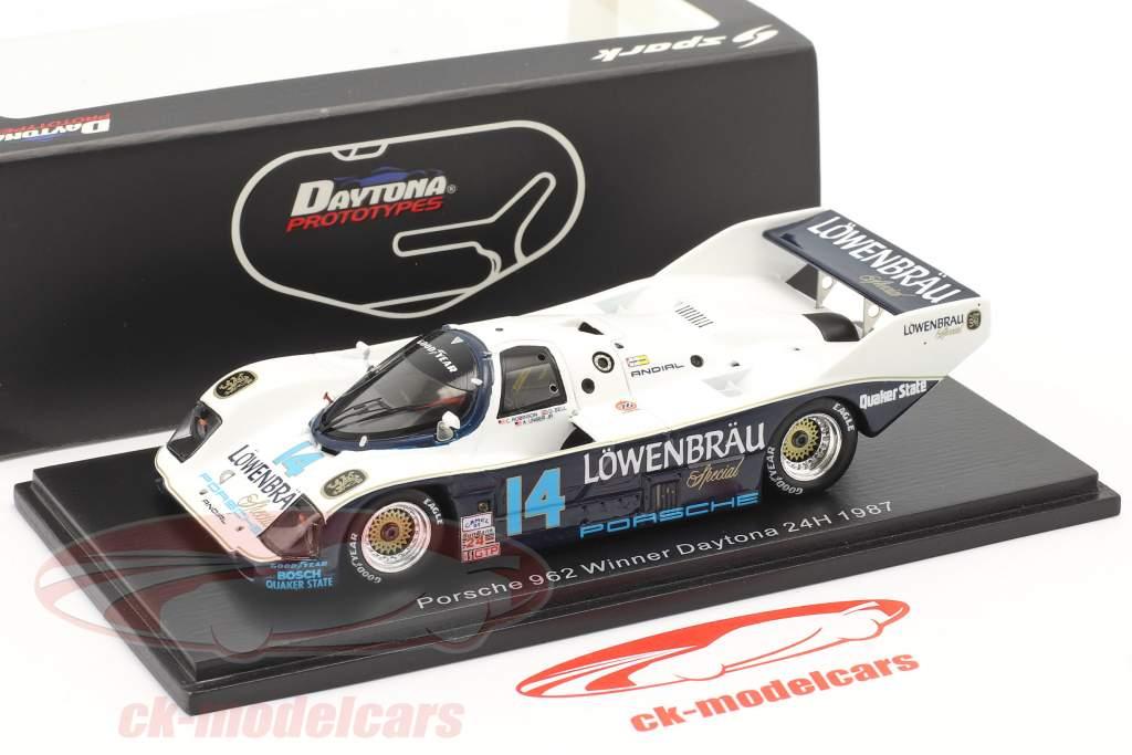 Porsche 962 #14 Ganador 24h Daytona 1987 Robinson, Bell, Al Unser Jr., Holbert 1:43 Spark