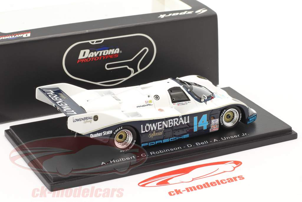 Porsche 962 #14 Gagnant 24h Daytona 1987 Robinson, Bell, Al Unser Jr., Holbert 1:43 Spark