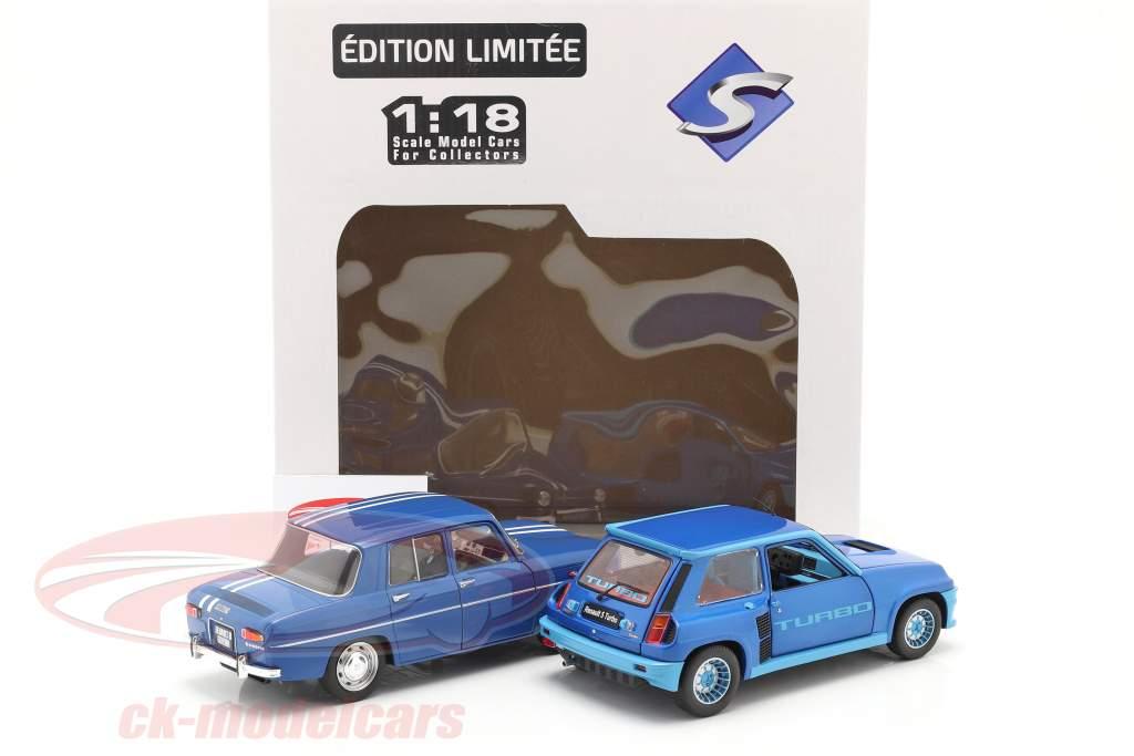 2-Car Set Renault R5 Turbo & Renault R8 Gordini bleu 1:18 Solido