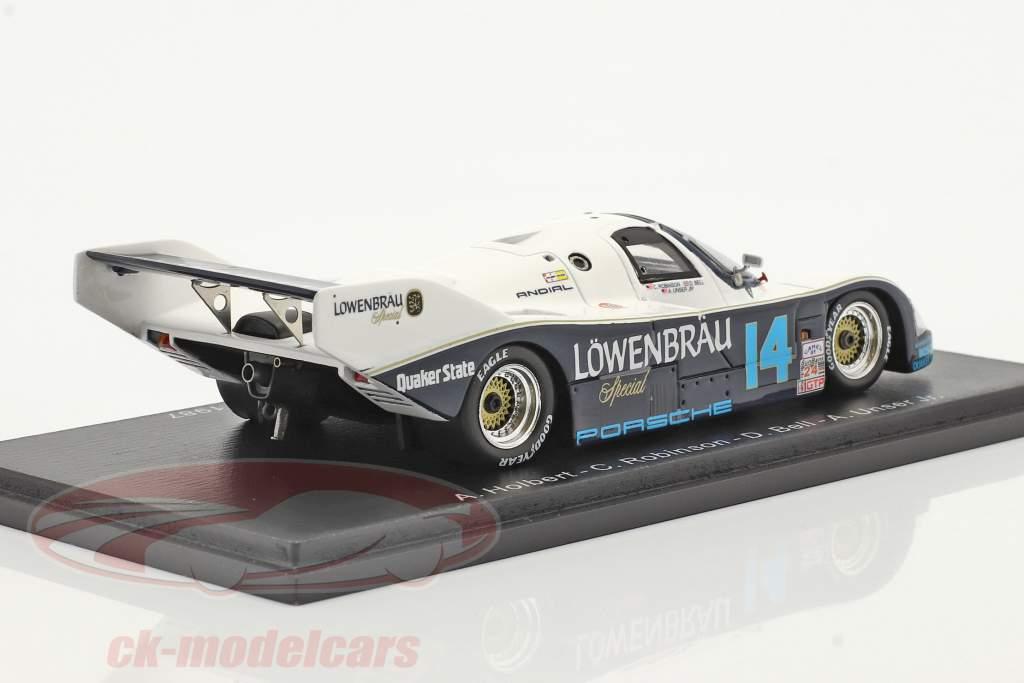 Porsche 962 #14 Winnaar 24h Daytona 1987 Robinson, Bell, Al Unser Jr., Holbert 1:43 Spark