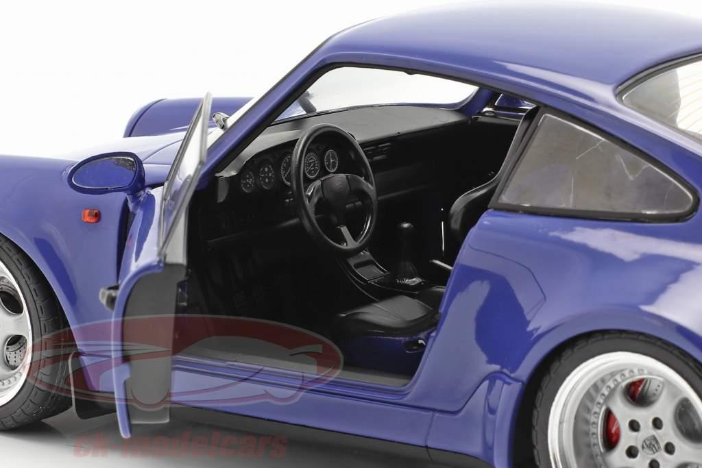 2 voitures ensemble Porsche 911 Carrera RSR & Porsche 911 Carrera RS (964) Orange / bleu 1:18 Solido
