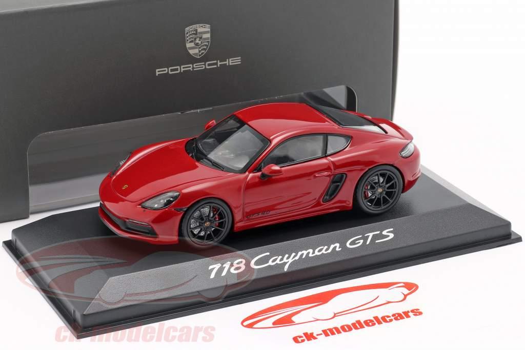 Porsche 718 Cayman GTS 4.0 karmin rød / sort 1:43 Minichamps